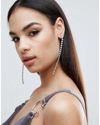 Krystal London - London Swarovski Crystal Long Drop Earrings - Lyst