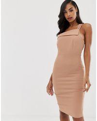 Vesper Strappy One Shoulder Dress - Pink