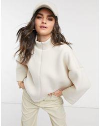 Vero Moda Maglione con zip corta crema - Neutro