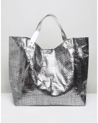 Vincent Pradier - Woven Pewter Beach Tote - Lyst