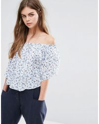 Oeuvre - Oeurve Floral Print Top - Lyst