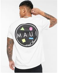 Maui & Sons Classic Cookie Oversize T-shirt - White