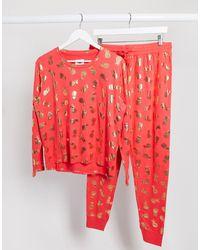 Chelsea Peers Pyjamaset Met Ananas Van Folie - Rood