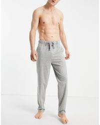 ASOS Pantalones gris jaspeado holgados