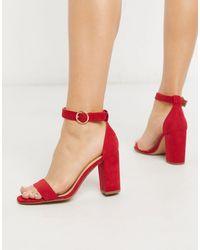 Pimkie – e Sandalen mit Blockabsatz - Rot