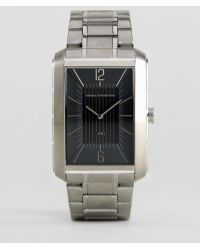 French Connection - Watch With Rectangular Case Black Dial - Lyst