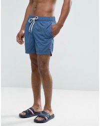 Hilfiger Denim - Tommy Swim Shorts Packaway In Blue - Lyst