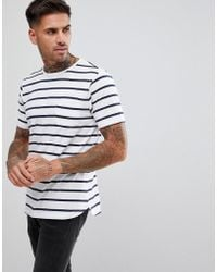 Outlet Comfortable Sale Collections Fitted Stretch Curved Hem T-Shirt - Red Another Influence KoEwU