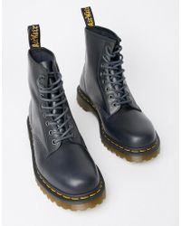 Dr. Martens - 1460 8-eye Boots In Navy - Lyst