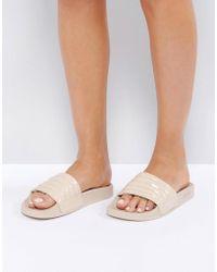 Slydes Port Padded Slide Flat Sandals - Natural