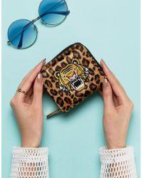 Skinnydip London - Leopard Print Zip Around Purse With Tiger Applique - Lyst
