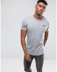 Defend London - T-shirt In Gray With Logo - Lyst