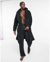 ASOS Lounge-badjas Van Zwarte Fleece