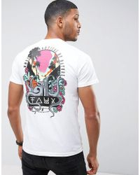 Friend or Faux Octopus Back Print T-shirt - White