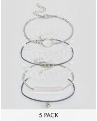 New Look - 5 Pack Bracelets - Lyst