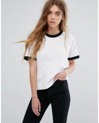 Dr. Denim Ringer T-shirt - White