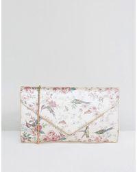 Oasis Royal Worcester Floral Clutch - Multicolour