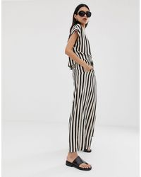 Weekday Relaxed Fit Cropped Co-ord Trousers - Multicolour