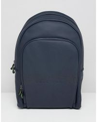 BOSS - Pixel R Rubberised Backpack In Navy - Lyst