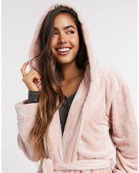 Lindex Super Soft Fleece Robe - Pink