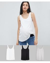 ASOS - Asos Design Maternity Ultimate Vest 3 Pack Save - Lyst