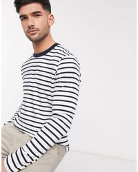 SELECTED Navy Striped Long Sleeve Top - Blue