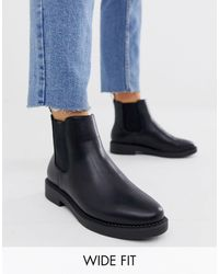 ASOS - Wide Fit Auto Chunky Chelsea Boots - Lyst