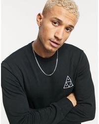 Huf Essentials Triple Triangle Crewneck Sweatshirt - Black