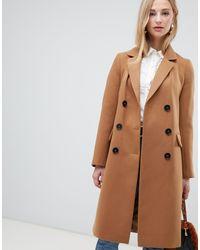 Warehouse Двубортное Пальто Верблюжьего Цвета -коричневый