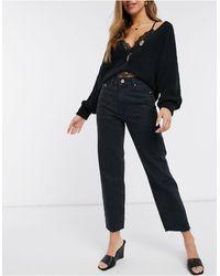 River Island Crop Denim Jeans - Black