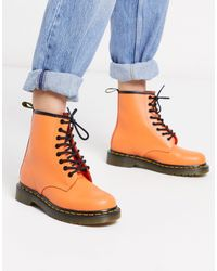 Dr. Martens Dr. Martens 1460 Smooth Leather Womens Orange Boots