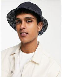 Ben Sherman Reversible Bucket Hat With Floral Design - Blue