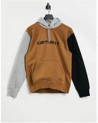Carhartt WIP Sudadera con capucha y paneles en contraste - Marrón
