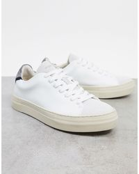 SELECTED Premium Leather Sneaker With Thick Sole - White