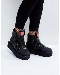 PUMA Nubuck Sneaker Boots - Black