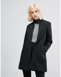 Fred Perry Retro High Neck Coat - Black
