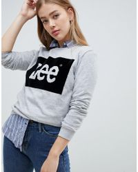 Lee Jeans - Lee Velour Logo Sweatshirt - Lyst
