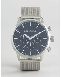 Bellfield Dial Watch With Strap - Metallic