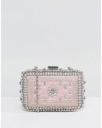 New Look - Embellished Clutch Bag - Lyst