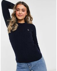 Jack Wills Icon Cable Sweater - Blue