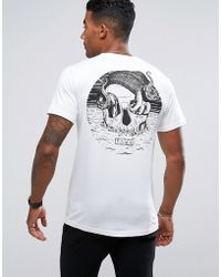 Friend or Faux Skull Back Print T-shirt - White