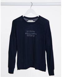 Abercrombie & Fitch Crew Neck Logo Sweatshirt I - Blue