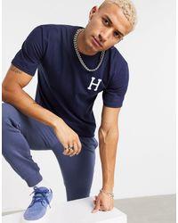 Huf Global Tripe Classic H T-shirt - Blue