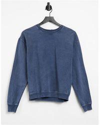 TOPSHOP Acid Wash Sweatshirt - Blue