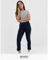 Y.A.S Petite Trousers With Side Zip - Blue