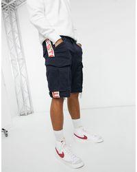 G-Star RAW – Rovic Moto – Cargo-Shorts - Blau