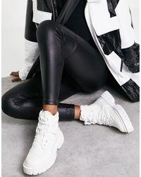 ASOS Acorn - Bottines style randonnée en toile - Blanc