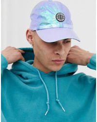 ASOS Cappellino iridescente con stemma gommato - Blu