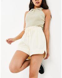 Mango Cotton Shorts - Yellow