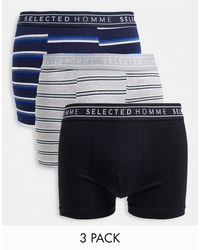 SELECTED 3 Pack Trunks - Grey